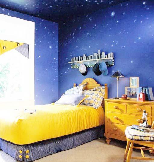 蓝色系儿童房装修装饰效果图