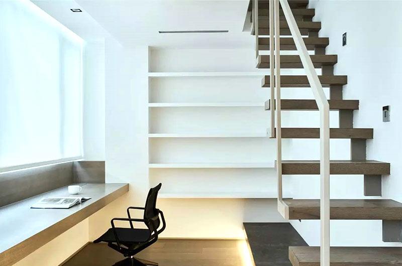 简约风格复式楼书房效果图