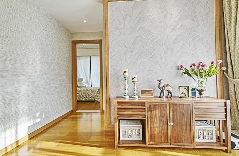 小户型东南亚风公寓过道效果图