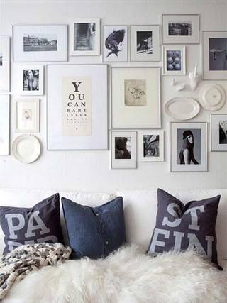 照片墙搭配设计图片