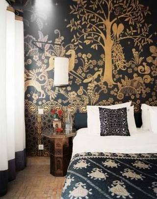 男生卧室背景墙图片