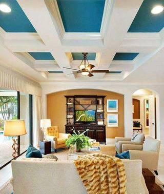 客厅吊顶设计布置图