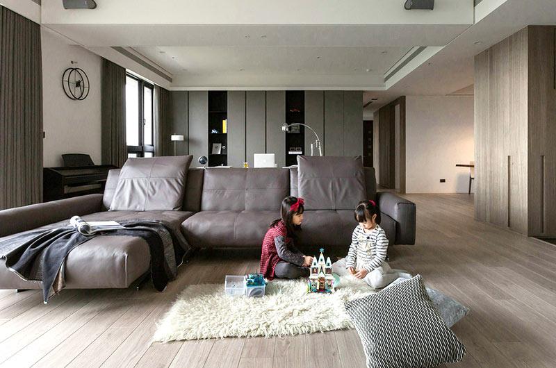 简约风格亲子公寓装修客厅效果图