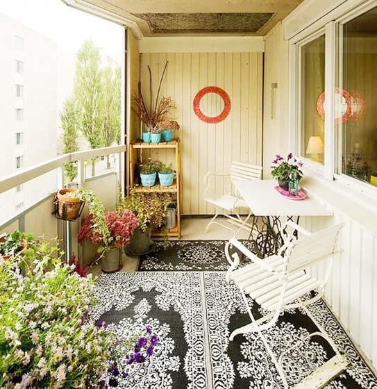 阳台花园装修布置图