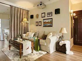 90㎡美式乡村两居室效果图  改造换新装