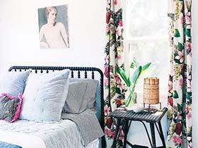 堪比背景墙  10款布艺窗帘图片