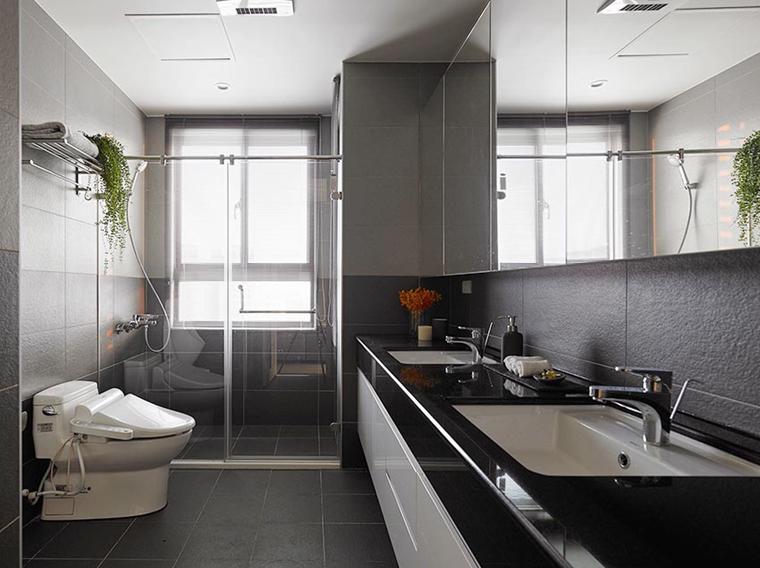 100平原木色两居室装修图片浴室图片