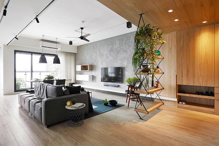 100平原木色两居室装修图片清新客厅灯具图片