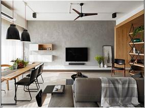 100平原木色两居室装修图片 温馨亲子空间