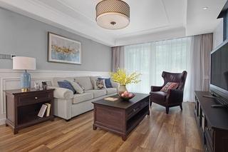 140平简约美式风格装修图美式客厅图片