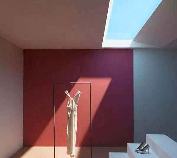 室内天窗装修平面图