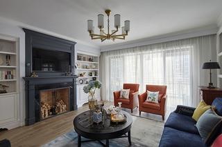 三室两厅美式风格装修美式客厅图片