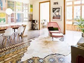 地毯都自叹不如  10款客厅地砖铺设搭配图片
