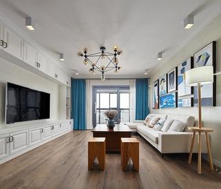 120平混搭风格两居室装修客厅效果图