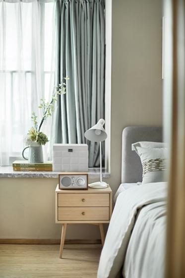 100平北欧风格装修效果图卧室窗帘图片