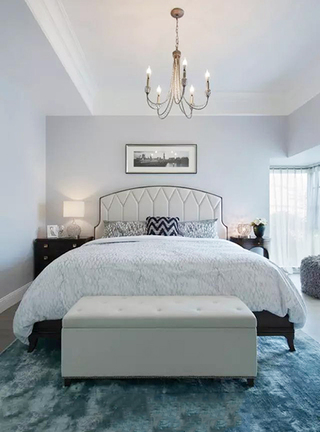 133㎡美式两室两厅卧室布置图