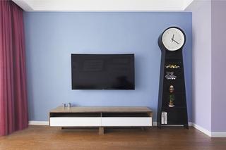 90平两居室装修电视背景墙图片