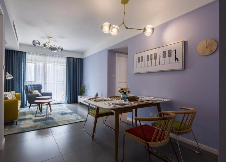 宜家风格两居室装修餐厅效果图