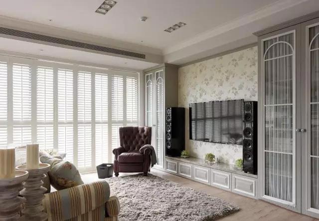 美式电视背景墙装修效果图