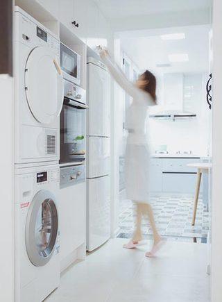 99㎡北欧风格洗衣房布置图