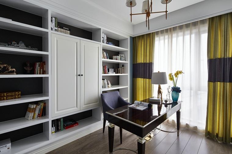 简约美式风格装修书房效果图