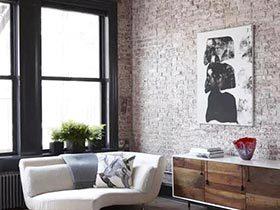 裸砖不裸色  10款裸砖背景墙设计图