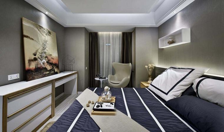 120平现代简约风格装修卧室效果图
