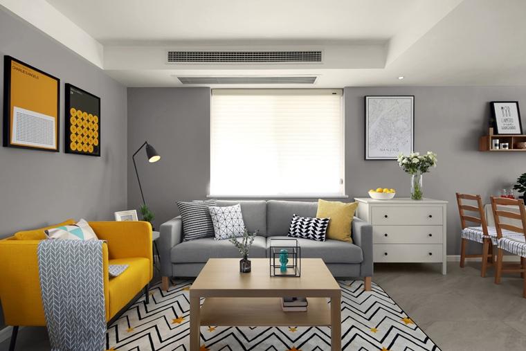宜家风格公寓装修客厅效果图
