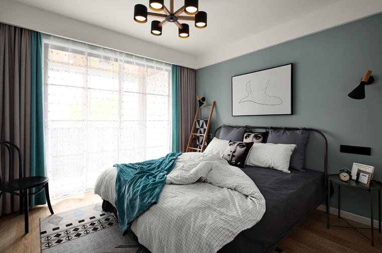 宜家风格公寓装修卧室效果图