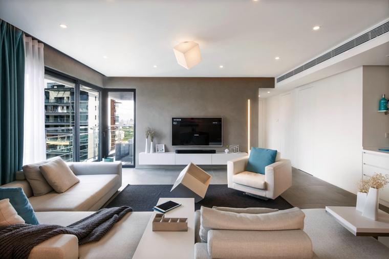 150平简约两居室装修效果图客厅效果图