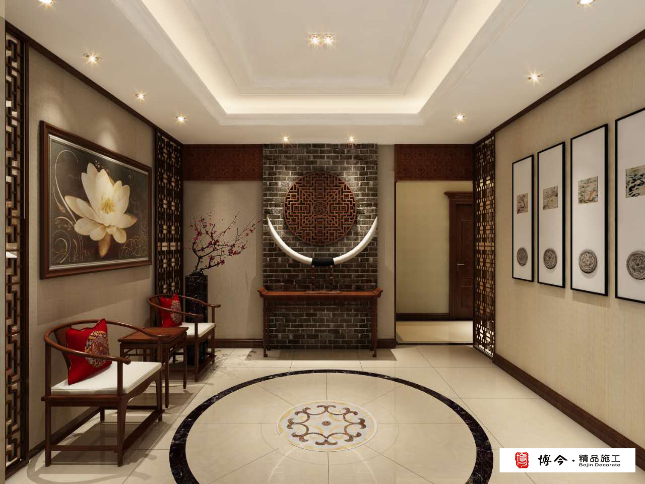 古典中式风格门厅装修效果图
