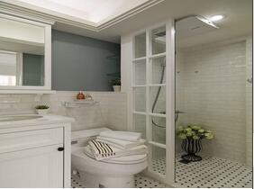 清爽简洁的卫浴间装修