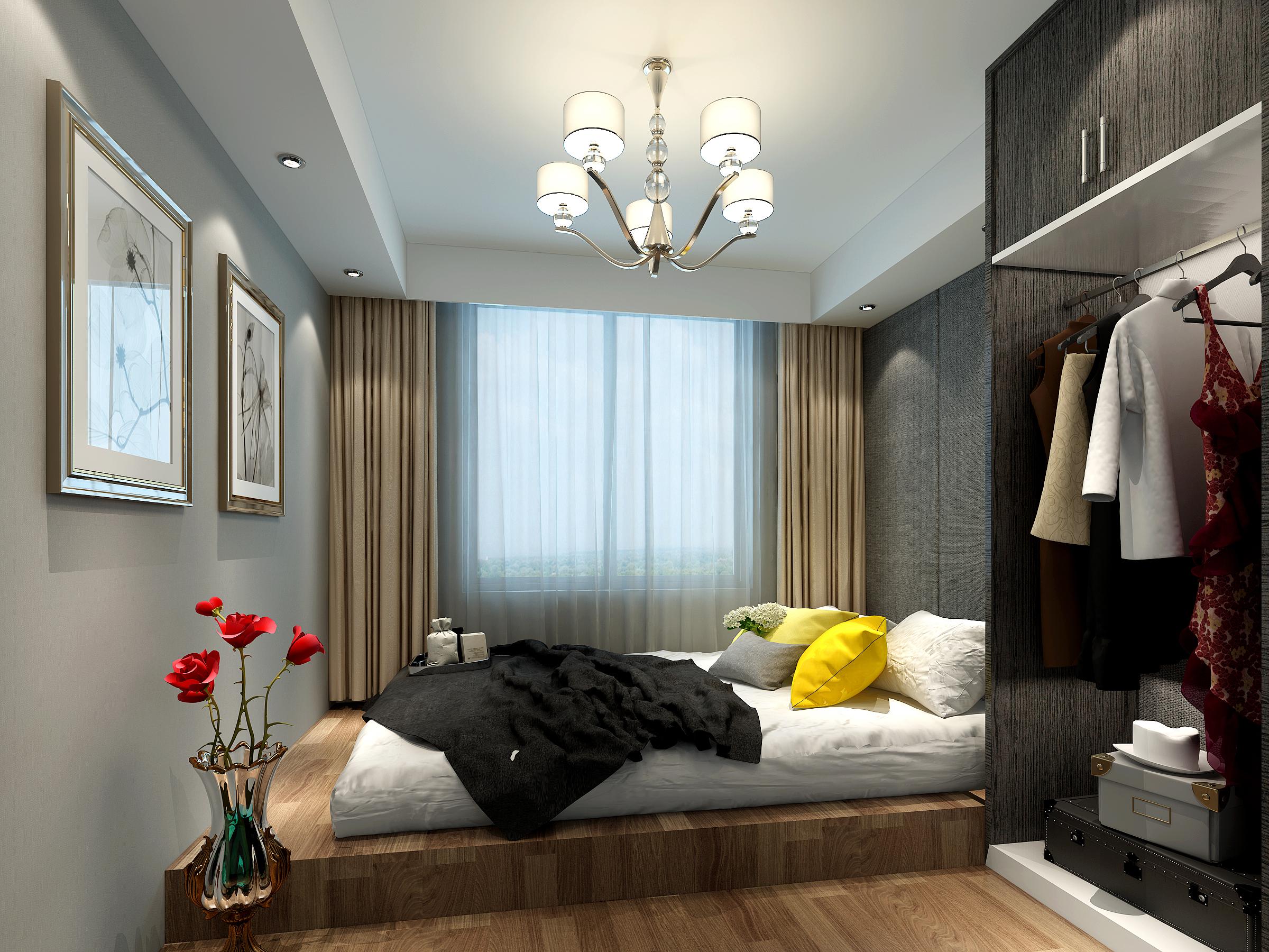 混搭风两居卧室装修效果图