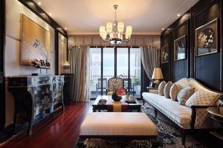 中式古典四居装修效果图