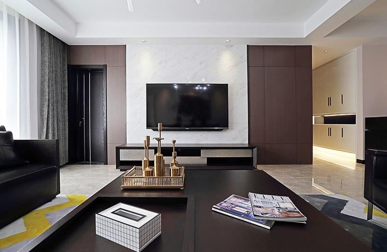 随心所欲大户型装修客厅电视墙设计图