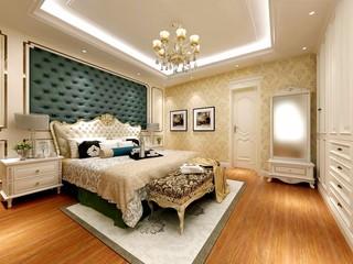 欧式古典别墅卧室装修效果图