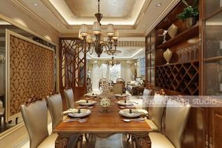 美式古典风格餐厅装修效果图