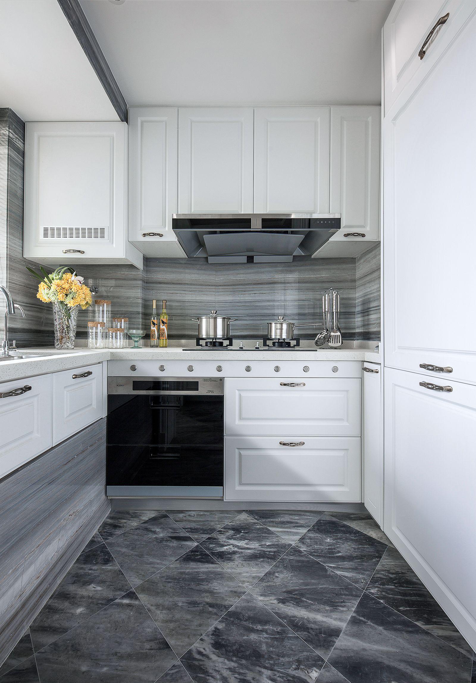 三居室简欧风厨房装修效果图