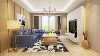 120平现代简约客厅装修效果图