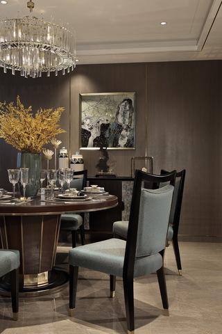 大户型轻奢样板房餐厅装修效果图