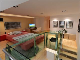 复式小户型卧室装修效果图