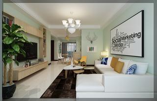 混搭风格两居室客厅装修效果图
