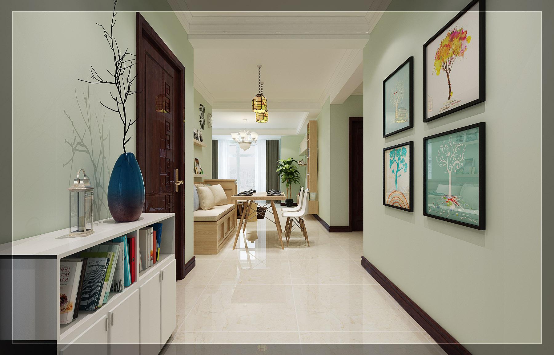 混搭风格两居室玄关装修效果图
