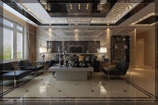 大户型现代简约沙发背景墙装修效果图