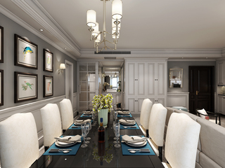 150平米美式风格餐厅装修注册送300元现金老虎机图