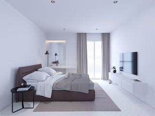 135平极简风格卧室装修效果图