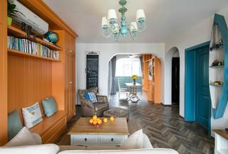 地中海混搭风三居客厅装修效果图