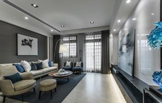 复式现代简约风格客厅装修效果图