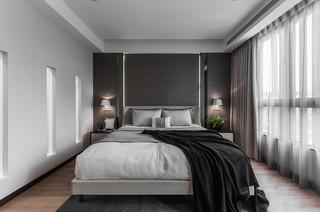 复式现代简约风格卧室装修效果图