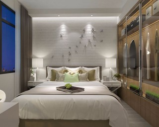 简约混搭卧室装修设计效果图